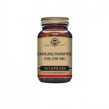 Colina Inositol 250/250 mg Solgar, 50 cap