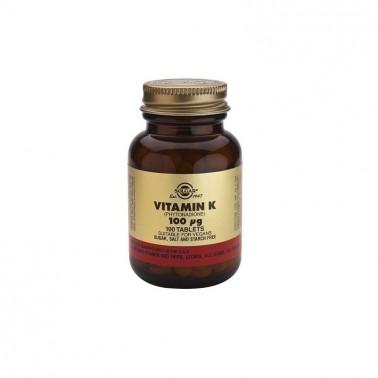 Vitamina K Natural 100 mcg. Solgar, 100 comp.