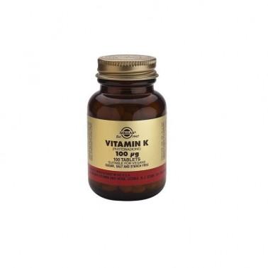 Vitamina K2 100 mcg.(menaquinona) Solgar, 50 cap.veg