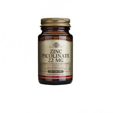 Zinc Picolinato 22mg Solgar, 100 comp.