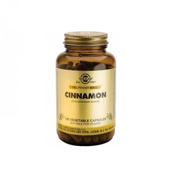 Canela China (cinnamomum cassia) Solgar, 100 cap.veg.