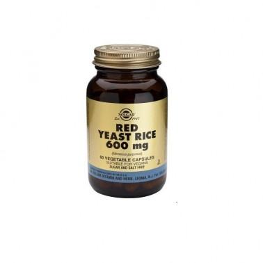 Levadura Roja de Arroz 600 mg Solgar, 60 vegicaps.