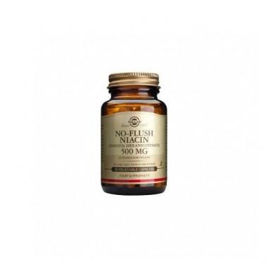 "Niacina ""no ruborizante"" 500 mg Solgar, 50 vegicaps"