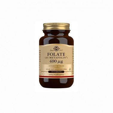 Folato (como metalofin) 400 mcg Solgar, 100 comp.