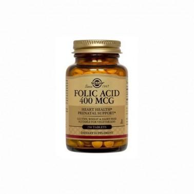 Acido Fólico Folacin 400mcg. Solgar, 250 comp.