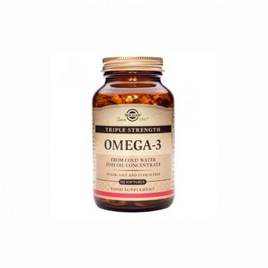 Omega 3 Triple concentración Solgar 100 cap blandas