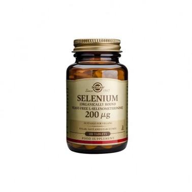 Selenio 200 mcg (sin levadura) Solgar, 100 comp.