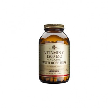 Vitamina C 1500 mg. Rose Hips Solgar 180 cap