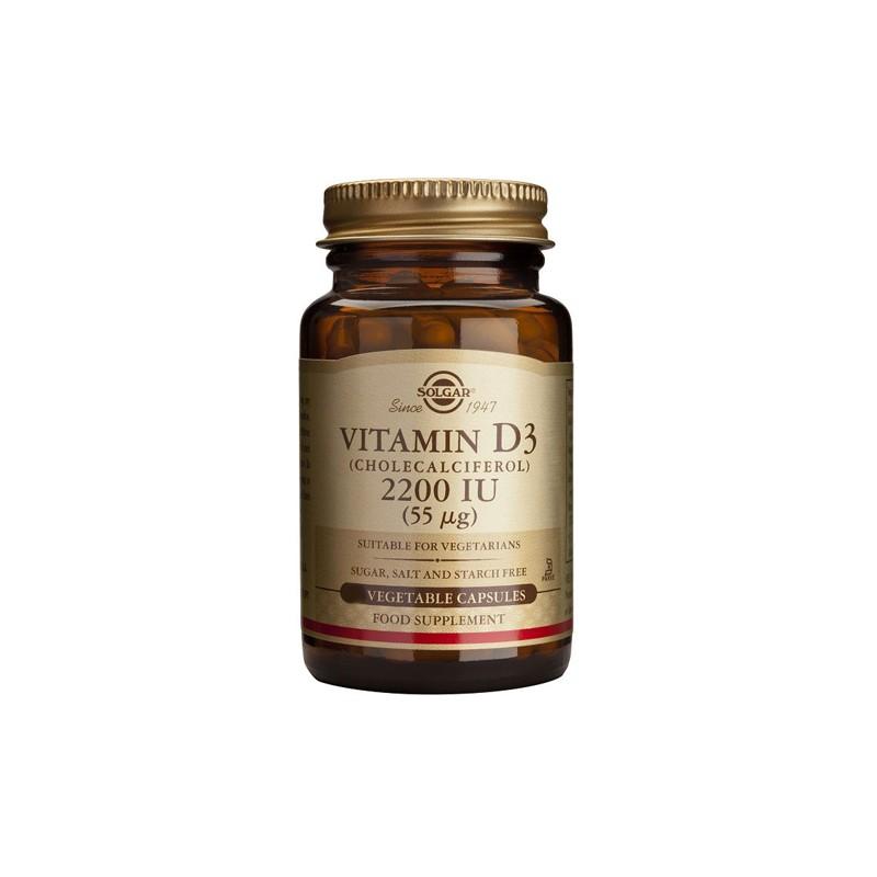 Vitamina D3 2200 ui (55mcg) Solgar 100 cap.