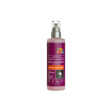 Acondicionador Frutos Rojos Spray Urtekram, 250 ml.