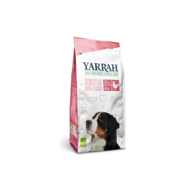 Perro Adulto Pienso Sensitive Pollo-Arroz BIO Yarrah, 2 Kg.