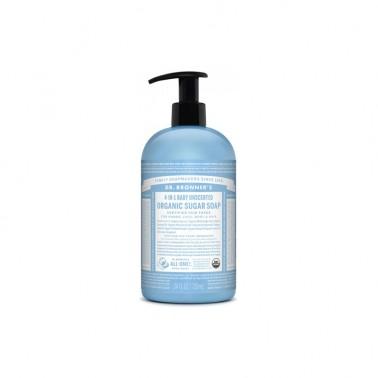 Jabón de azúcar Bebé neutral Dr. Bronner´s, 710 ml.