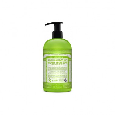 Jabón de azúcar Lemongrass-lima Dr. Bronner´s