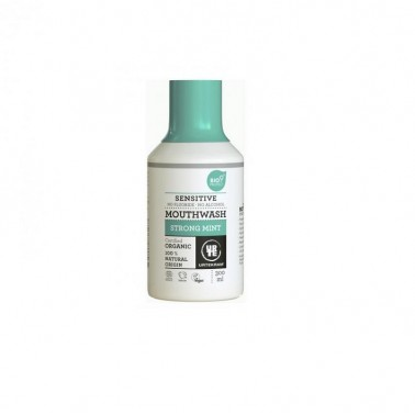 Enjuague Bucal Menta Fuerte Urtekram, 300 ml.
