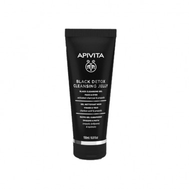 APIVITA Gel Limpiador Detox Negro, 150 ml.