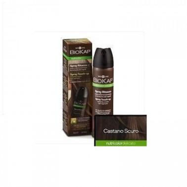 Spray Retoque Castaño Oscuro Biokap, 75 ml