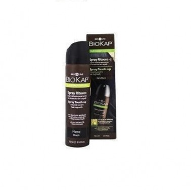 Spray Retoque Negro Biokap, 75 ml