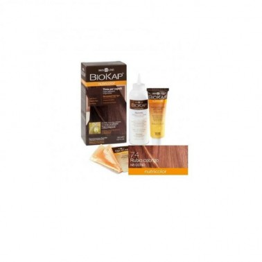 Tinte Auburn Blond Dye Rojo Cobrizo 7.4  Biokap, 140 ml