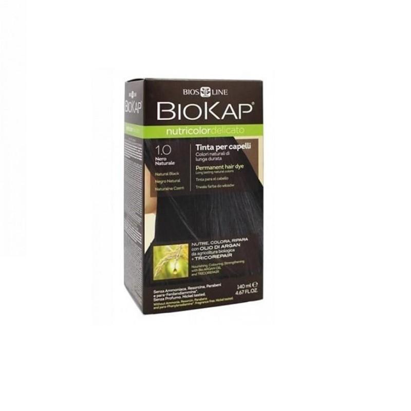 Tinte Black Dye Negro 1.0 Biokap, 140 ml
