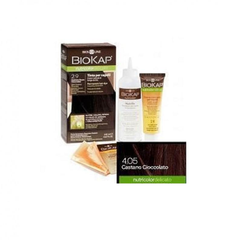 Tinte Castaño Chocolate 4.05 DELICATO Biokap, 140 ml