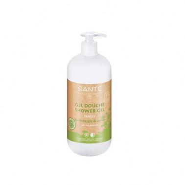 Gel de ducha limón-piña BIO Sante, 500 ml.