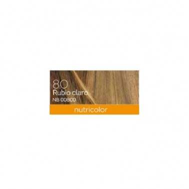 Tinte Light Blond Dye Rubio Claro 8.0 Biokap, 140 ml.