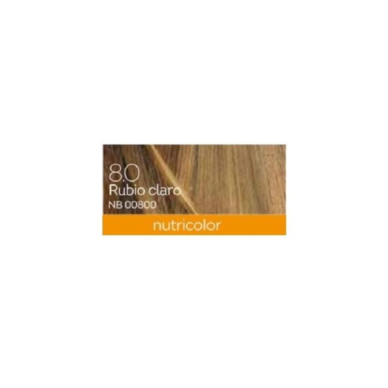 Tinte Light Blond Dye Rubio Claro 8.0 Biokap, 140 ml.