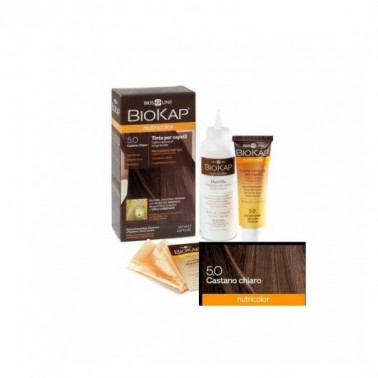 Tinte Light Brown Dye Castaño Claro 5.0 Biokap, 140 ml.