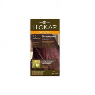 Tinte Mahogany Blond Dye Rubio Caoba 7.5 Biokap, 140 ml.