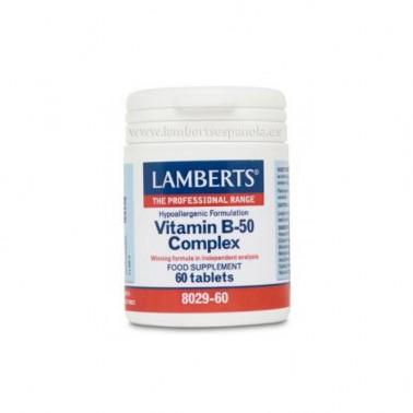 Vitamina B-50 Complex Lamberts, 60 comp.