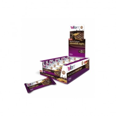 Barrita Crujiente Chocolate Negro Dietisa, 20 un.