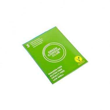Preservativos veganos Green Condom Club, 3 un.