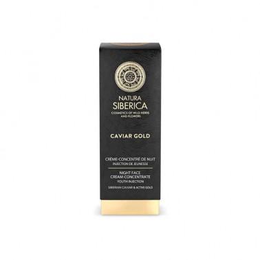 Caviar Gold Crema de Noche Concentrada Natura Siberica, 30 ml.