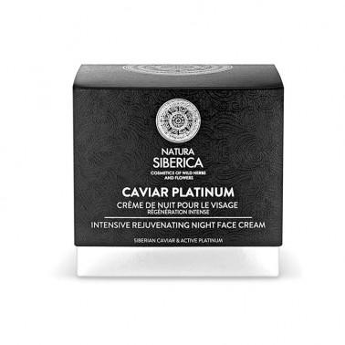 Caviar Platinum Crema de Noche rejuvenecedora Natura Siberica, 50 ml.