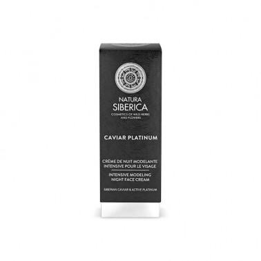 Caviar Platinum Crema de Noche Remodeladora Natura Siberica, 30 ml.