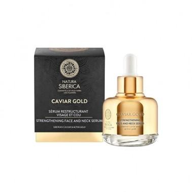 Caviar Gold Sérum Reafirmante Rostro y Cuello Natura Siberica, 30 ml.