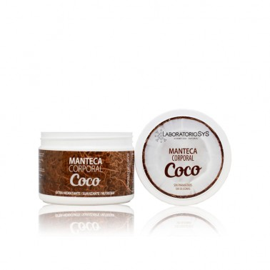 Manteca Corporal Coco Laboratorio SYS, 250 ml.