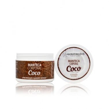Manteca Corporal Coco Laboratorio SYS, 250 ml.