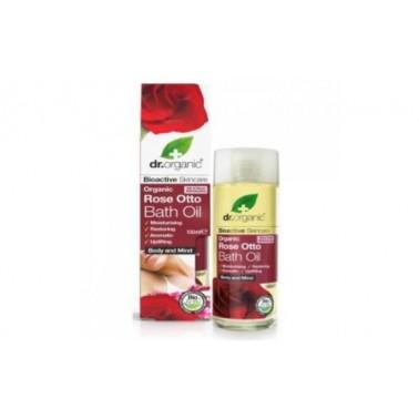 Aceite para Baño rosa de damasco Dr. Organic, 100 ml.