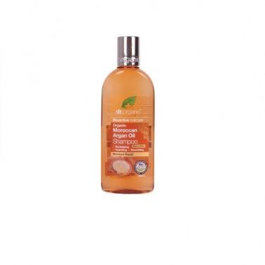 Champú aceite de argán marroquí Dr. Organic, 265 ml.