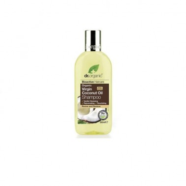 Champú aceite coco orgánico Dr. Organic, 265 ml.