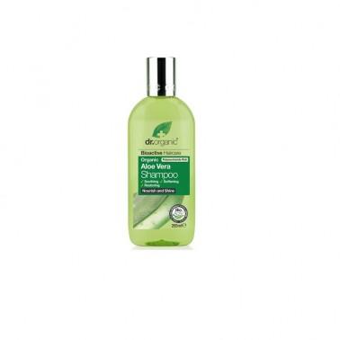 Champú aloe vera orgánico Dr. Organic, 265 ml.