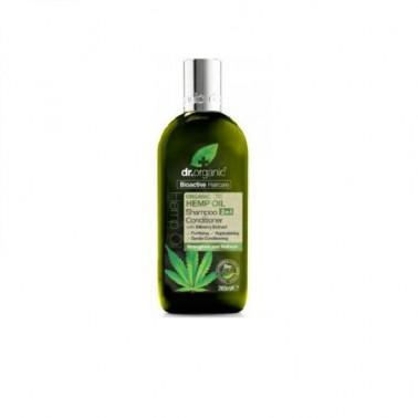 Champú y Acondicionador aceite cañamo Dr. Organic, 265 ml.