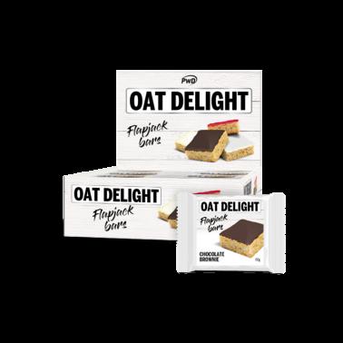 Oat Delight Flapjack Brownie PWD Nutrition, 16 barritas
