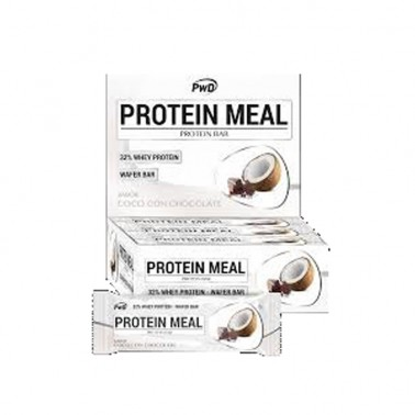 Protein Meal Coco con Chocolate PWD Nutrition, 12 barritas