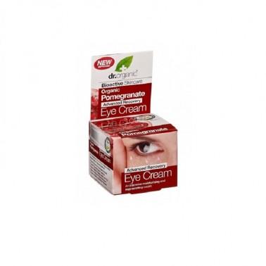 Contorno de ojos granada orgánica Dr. Organic, 15 ml.
