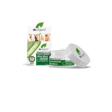 Crema concentrada Aloe vera orgánico Dr. Organic, 50 ml.