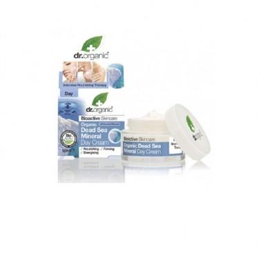 Crema de día minerales del mar muerto Dr. Organic, 50 ml.