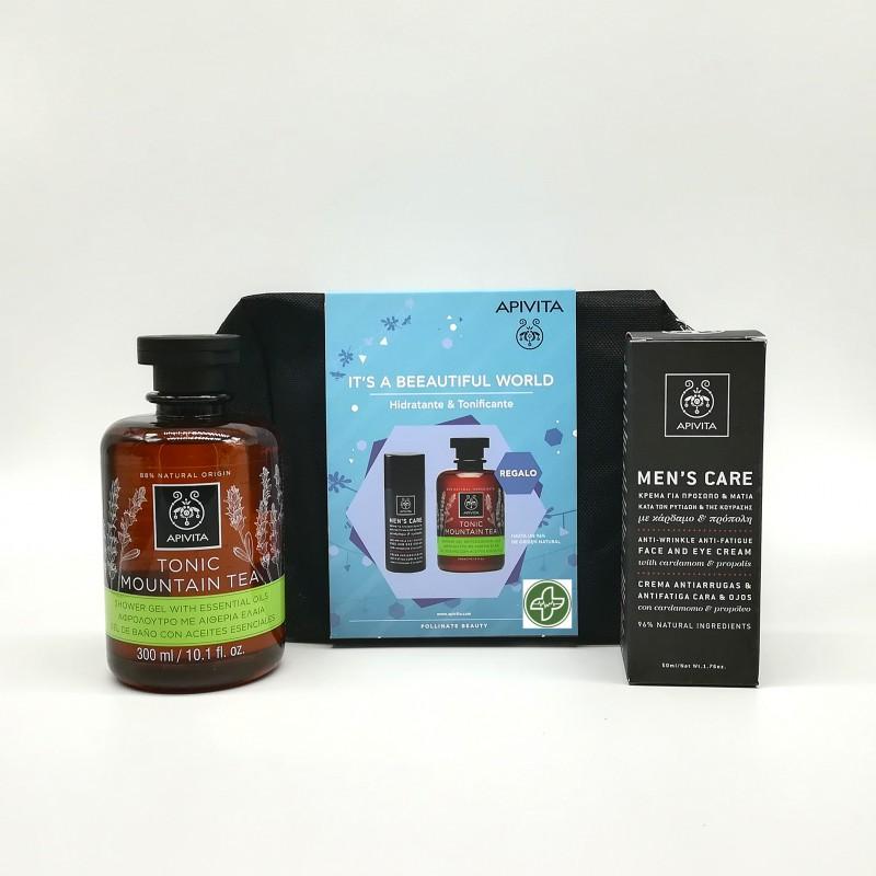 APIVITA Pack Mens Care Hidratante y Tonificante