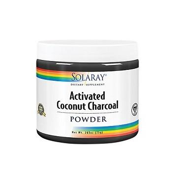 Charcoal Coconut Activated Carbón Activo Solaray, 75 gr.